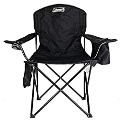 Relax at the campsite while keeping a cold drink handy with the Coleman Cooler Quad Portable Camping Chair. This folding chair comes equipped with a built-in cooler pocket that keeps up to 4 cans of your favorite beverage cool, so you can gra...