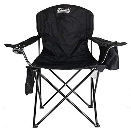 Coleman Camping Chair|Tailgating Chair with Cooler|Beach Chair with Cooler|Portable Quad Chair with a 4-can cooler for tailgating, camping, and the Outdoors (Insulated Cooler Chair)