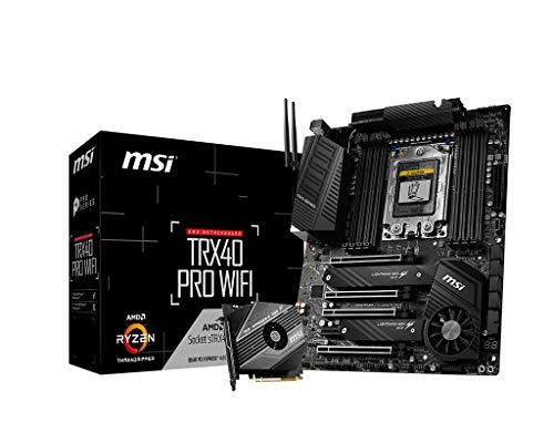 MSI TRX40 PRO WiFi Motherboard (AMD Strx4, PCIe Gen4, M.2, USB3.2 Gen2x2, DDR4, Dual 10G LAN, Wi-Fi 6, ATX)