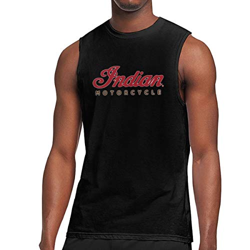 Winsle Mens Print Sleeveless T-Shirt Indian Motorcycle Red Logo Casual Sport Tank Top Tee XXL