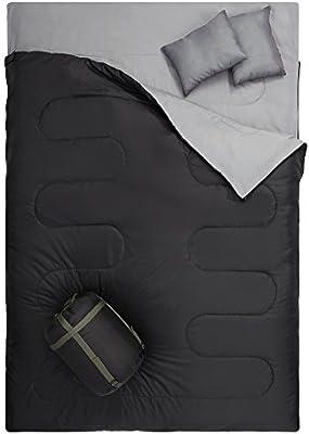 Amazon.com: otdair Saco de dormir doble con 2 pillows ...
