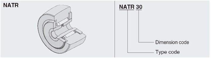 SUOFEILAIMU-ZHOU NATR20 Roller Followers Bearings 20x47x25x24mm 1 PC NATR 20 Yoke Type Track Rollers Bearing NATD20