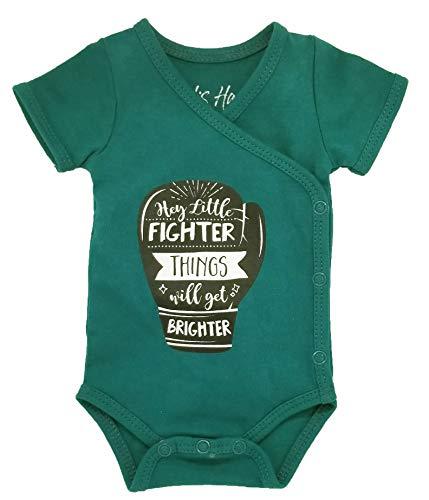 Boys Preemie Onesie 100% Organic Cotton Hey Little Fighter, Things Will. NICU Nurse Approved