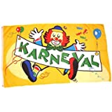 Fahne / Flagge Karneval Fasching Clown 90 x 150 cm