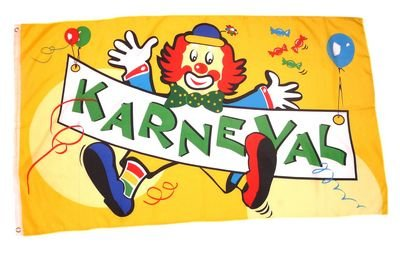 Fahne Flagge Karneval Fasching Clown 90 X 150 Cm Amazon De Sport
