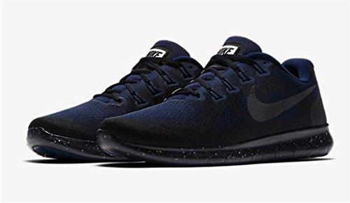 Nike Damen Free Run 2017 Shield Laufschuhe Schwarz (Black/Black-Black-Obsidian)