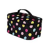 Cloudro Cosmetic Makeup Storage, Cosmetic Bag Fashion Square Travel Portable Storage Wash Bag (F)