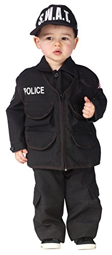 UHC Boy's Authentic Swat Police Officer Theme Outfit Toddler Halloween Costume, Toddler L (3T-4T)