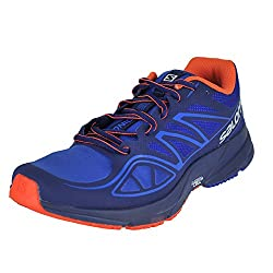 Salomon Men's Sonic Aero-surf The Web Trail Runner, Surf The Webblue Depthsflame, 8.5 M Us