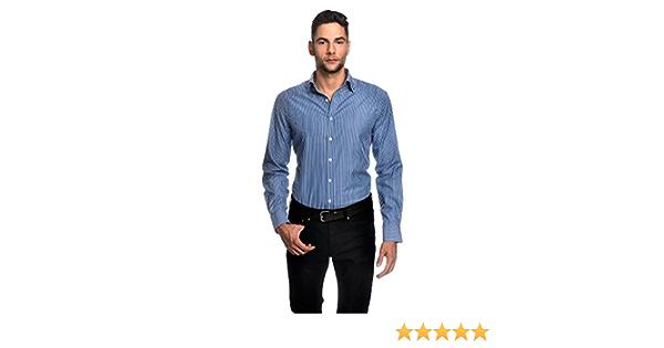 EMBRAER Camisa de Hombre, Ajustada Entallada (Slim-fit), 100 ...