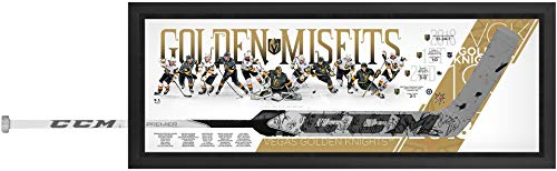 Vegas Golden Knights Framed Autographed Marc-Andre Fleury CCM Game Model Goalie Stick Shadowbox with 27 Signatures - Limited Edition of 18 - Fanatics Authentic Certified ()
