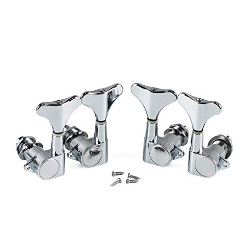(IKN Set of Chrome Tuning Pegs 2L2R Machine Heads Bass Gotoh)