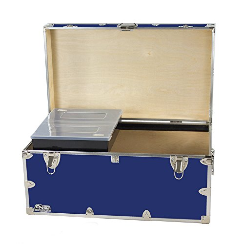 College Dorm Room & Summer Camp Lockable Trunk Footlocker with Tray - Undergrad Trunk by C&N Footlockers - Available in 20 colors - Large: 32 x 18 x 16.5 - Stores West Clothing Key