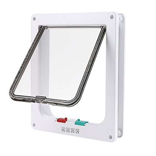 RENZE Pet Door Kit for Cats Sliding Glass Door With Telescopic Frame For Large /Medium/ Small Pets (M, - Package Shipping Prices International