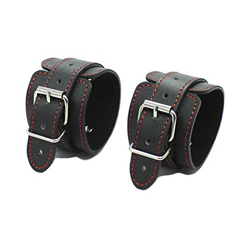 Sex Handcuffs Black Leather Redline Bondage Restraints Foot Cuffs BDSM Sex Toys for Couples Juguetes Eroticos Adult Products Hand Cuff