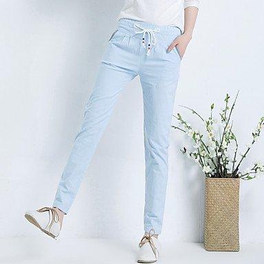 Lin littraire Light Halun Pantalons Femme Large Blue D'un de Pantalons Coton Cordonnet de Chanson NAERFB Pieds Dcontracts cgIqXX