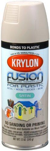 Krylon K02423007 'Fusion for Plastic' Satin River Rock Plastic Paint - 12 oz. Aerosol