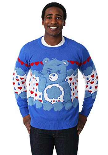 Grumpy Bear Adult Care Bears Ugly Christmas Sweater 2X
