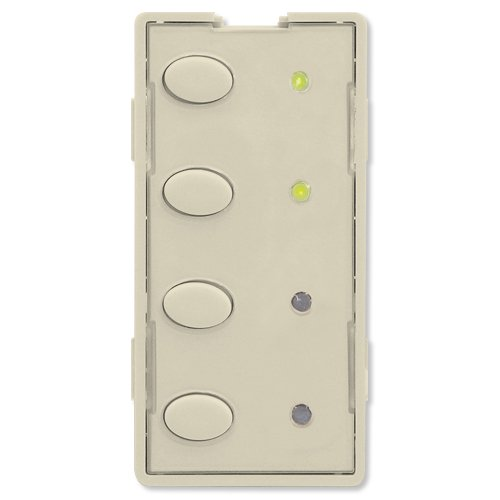 Scene Controller Faceplate, 4 Oval Buttons, Almond (ZS24OS-A) ()