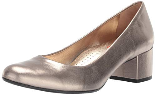 MARC JOSEPH NEW YORK Womens Leather Made in Brazil Classic Broad Street Pump, Gipsy Chrome, 7 B(M) US