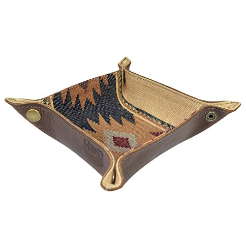 Guatemalan Native Comalapa Catchall Coin Box Tray Storage Valet Handmade by Hide & Drink :: Sunset from Hide & Drink