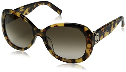Marc Jacobs Women's Marc111s Oval Sunglasses, Glitter Havana/Brown Gradient, 56 - Marc 111