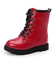 Aiweijia Boy girl Shoes Martin boots Parent-child High help zipper Casual shoes