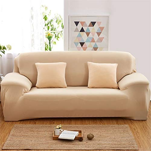 (Ranferuyk Elegant Elastic Couch Sofa Cover Armchair Slipcover for Living Room 1/2/3/4 Seat Home Decor 4545Cm Cushion Cover Moldel 18 3 Seat (190-230cm))