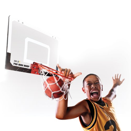 "SKLZ Pro Mini Basketball Hoop W/ Ball. 23""x16"" Shatterproof Backboard."