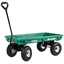 Millside Poly-Deck Garden Wagon with Flat Free Tires, Green