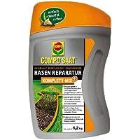 COMPO SAAT® Rasen-Reparatur Komplett Mix+, Rasenpflege mit Doppelnutzen, schließt Rasenlücken und regeneriert ausgedünnte Flächen