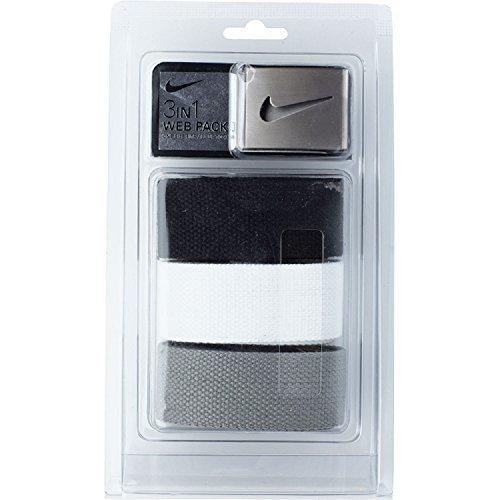 Nike 3-In-1 Web Pack Belts, Osfa, Grey