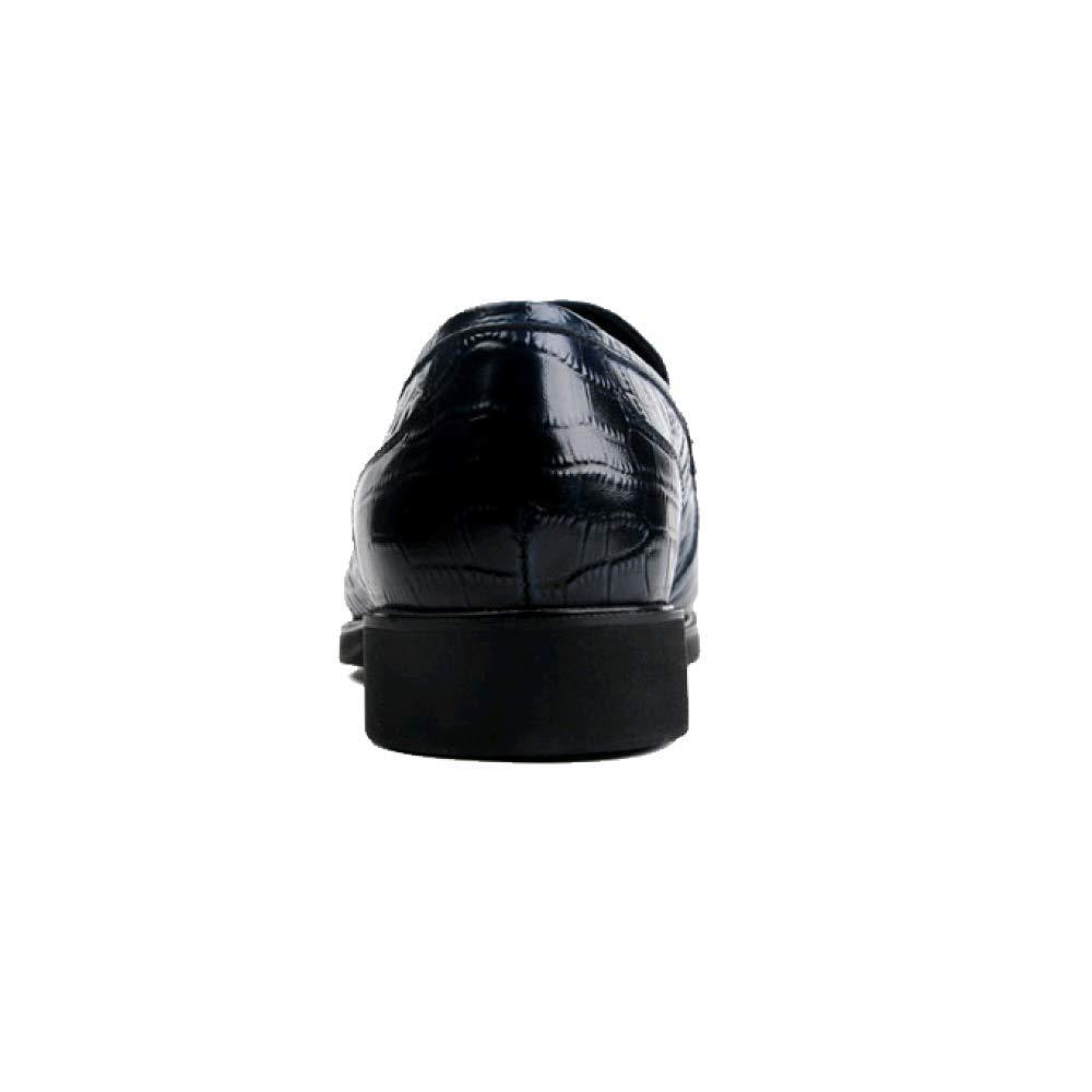 ZQZQ Leder Hilfe Herren Business Fashion Niedrig Hilfe Leder Formelle Wear schwarz e1b1a7