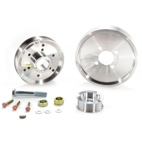 BBK 1559 Underdrive Pulley Kit for Ford Mustang 4.6/ GT - 3 Piece Lightweight CNC Machined Aluminum Kit by BBK Performance - Mustang Bbk Underdrive Pulley