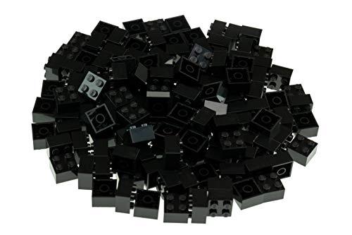 Strictly Briks Classic Bricks 144 Piece 2x2 Black Building Brick Creative Play Set - 100% Compatible with All Major Brick Brands