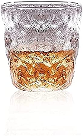 ZYKXSJ 4pcs Glacier Glass Cup,Transparent Glass Wine Glasses,Often Used in Scotch Whiskey Brandy Whiskey Cocktail Beer Glass (300ML)