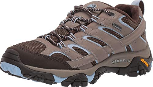 Merrell Women's Moab 2 GTX Brindle 7 M US (Merrell Crestbound Gtx Waterproof Hiking Boots Womens)