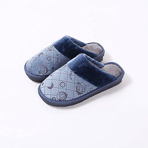 Cotone habuji pantofole inverno uomini home scivoloso interno caldo inverno Babbo Natale cartoon pantofole, 40/41, grigio