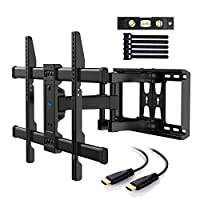 PERLESMITH Full Motion TV Wall Mount for Most 37-70 Inch TV
