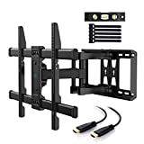 TV Wall Mount Bracket Full Motion Dual Articulating Arm for most 37-70 Inch