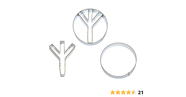 Peace Sign 1960/'s Cookie Cutter and Fondant Cutter and Clay Cutter