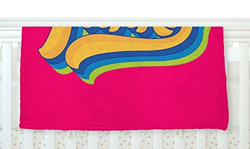 KESS InHouse Roberlan Funky Pink Orange Fleece Baby Blanket 40 x 30 [並行輸入品]   B0785Q5JJZ