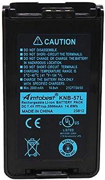 Li-ion Battery Fit KENWOOD TK3140 TK2160 TK3160 TK2360 TK3360 NX220 KNB-57L
