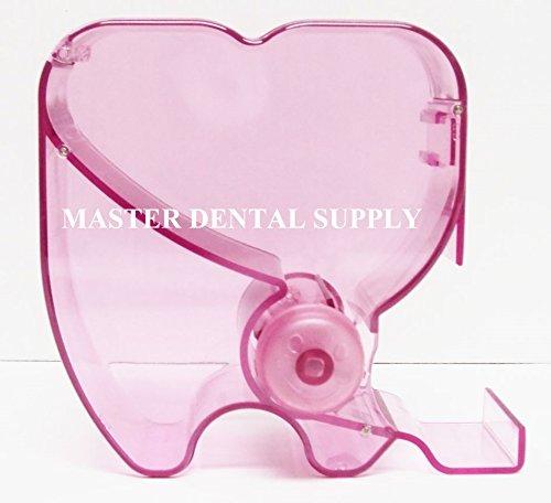 1 Dental Cotton Roll Organizer See-through PINK Dispenser Holder