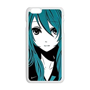Happy Green hair lovely girl Cell Phone Case for Iphone 6 Plus