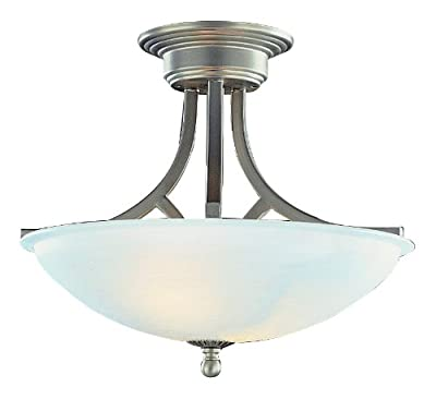 Trans Globe Lighting 6405 Two Light Down Lighting Semi Flush Ceiling Fixture,