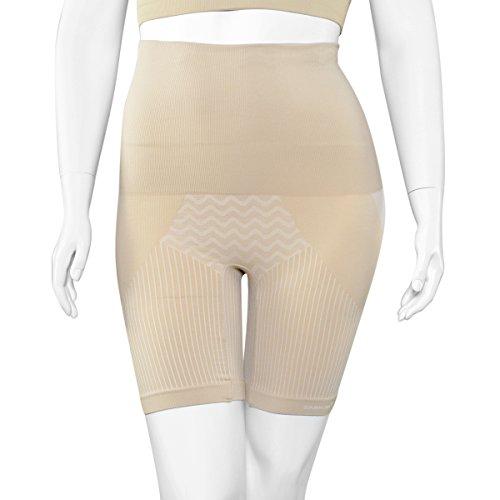 8f4ad93942c SANKOM Beige Thigh Slimming Tummy Waist Control Posture Shaper Shapewear  with Cooling Fibers XXL