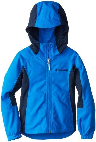 Columbia Little Boys' Splashflash II Hooded Softshell Jacket, Hyper Blue, X-Small