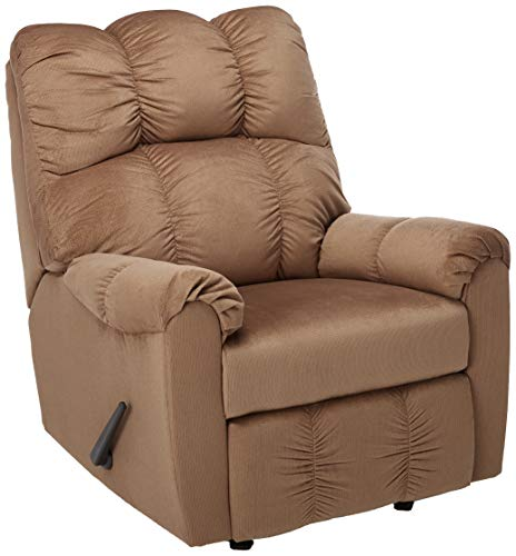 Ashley Furniture Signature Design - Raulo Recliner - Manual Reclining Chair - Mocha - Plans Mission Chair Rocking