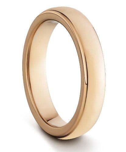 4 mm/hombre/mujer de carburo de tungsteno unisex estilo clásico de oro rosa